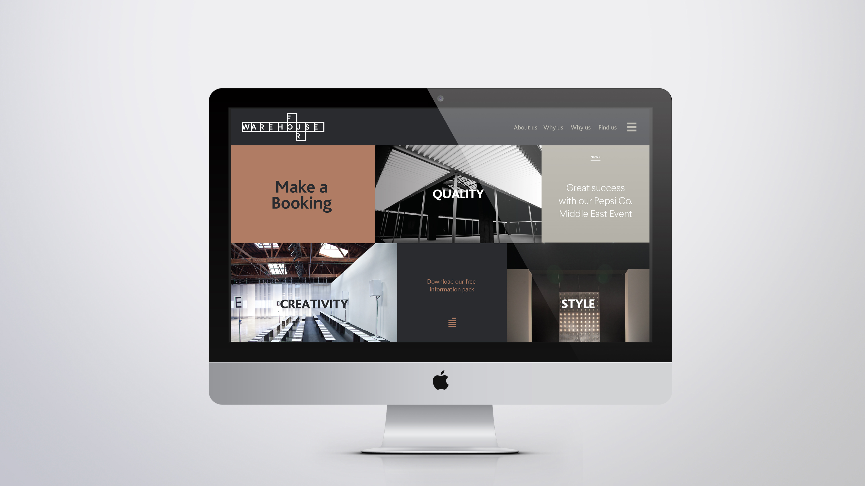 WAR Brand Identity Development website